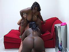 Cock sucking interracial threesome with Chyna White and Subrina Love stuffing their black BBW faces with dick.Chyna White, Subrina Love