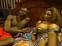 An amateur black couple film themselves fucking