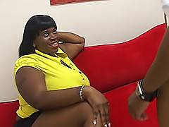 With how this fat black babe is built, Mz. Caution can take a hard pussy fucking, and always cum back for more.Mz. Caution