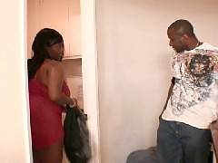 Slutty ebony plumper Divastarr, gets her twat fucked hard in this clip. Check out this black bbw as she braces herself for a session of hardcore pounding. Her hottie starts banging her pussy and thrust his cock deep inside her wet cooter, fucking her. Div
