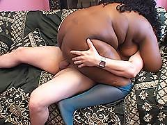 His white cock never felt the power of a fat black pussy like Naughtya has, and he loves him some hot cocoa.Naughtya