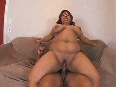 Magik is a slutty ebony fattie who knew what she got into when she hooked up with her friend. She knew that shed have to work hard to please him. This big girl shoves her mouth over a throbbing dick and later gets her fill of his hard cock deep in h