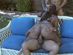 Naughty black bbw Skyy Black and her two macho hotties went crazy in the outdoors. In this nasty threesome session, this ebony plumper bounces up and down a thick schlong and was simultaneously giving her other stud a nasty mouthfuck in this steamy s