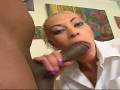 Is there a hotter gal around than Angel Marie? Shes a beautiful light-skinned black girl with blonde hair and a sexy spinner body that you will be seeing a lot while she goes to work giving her man a blowjob then taking a big cock inside her shaven