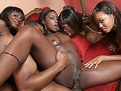 These hot black hos get fucked in every position imaginable