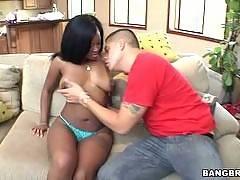 Sexy black girls gets white dick. Monique Symone