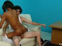 Ebony chicks fucking and sucking from RapVideoAuditions
