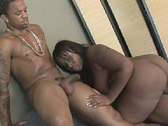 Horny black bbw fucked on the couch!